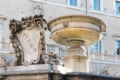 Piazza Santa Maria in Trastevere Stock Image