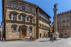 Piazza Santa Trinita, Florence, Italy Royalty Free Stock Photos
