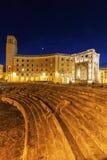 Piazza Santo Oronzo en Anfiteatro-Romano in Lecce Royalty-vrije Stock Foto