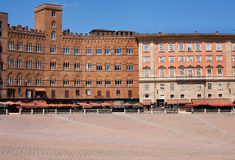 Piazza in Siena, Toscanië Royalty-vrije Stock Foto