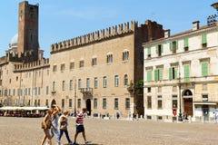 Piazza Sordello dans Mantua, Italie Image libre de droits