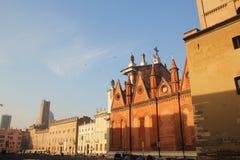 Piazza Sordello i Mantova, Italien Royaltyfri Bild