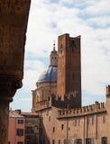 Piazza Sordello i Mantua, Lombardy, Italien Arkivbild