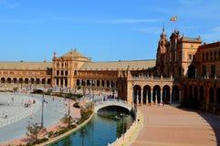 Piazza Spaniens Sevilla Espana (1) stockfotografie