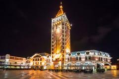 Piazza Square at night in Batumi, Adjara, Georgia Stock Photo