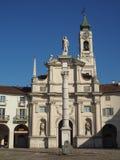 Piazza SS Annunziata square in Venaria royalty free stock photo