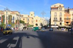 Piazza Tasso i Sorrento royaltyfri foto