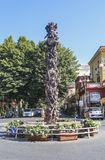 Piazza Tasso in Sorrento. Monument at Central Square in Sorrento. Italy Royalty Free Stock Photography