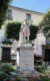 Piazza Tasso in Sorrento. Monument of Torquato Tasso Royalty Free Stock Images