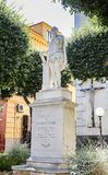 Piazza Tasso in Sorrento. Monument of Torquato Tasso. At Central Square in Sorrento, Italy Royalty Free Stock Photography