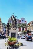 Piazza Tasso in Sorrento. Sant Antonio Abate Monument. At Central Square in Sorrento, Italy Stock Photos