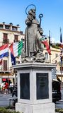 Piazza Tasso in Sorrento. Sant Antonio Abate Monument. At Central Square in Sorrento, Italy Stock Photography