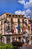 Piazza Tasso Sorrento. Statue of St Antonino in the Piazza Tasso in the Centre of Sorrento Campania stock photos
