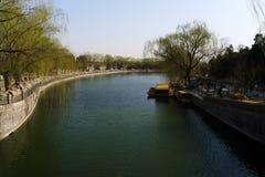 Piazza Tiananmen vicina del fossato Fotografie Stock Libere da Diritti