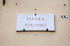 Piazza Tolomei in Siena, Tuscany Royalty Free Stock Photo