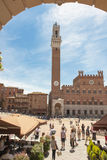 Piazza and Town Hall Siena, Italy Royalty Free Stock Photo