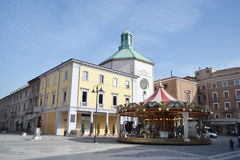 The Piazza Tre Martiri in the center of Rimini Royalty Free Stock Image