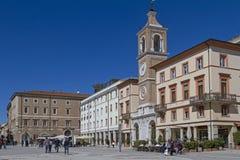 Piazza Tre Martiri in Rimini Royalty Free Stock Photography
