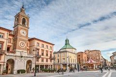 Piazza Tre Martiri w Rimini, Włochy fotografia stock