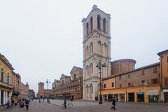 Piazza Trento e Trieste, Ferrara Royalty Free Stock Photos