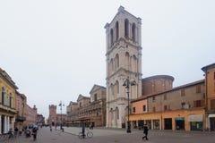 Piazza Trento e Trieste, Ferrara Royalty Free Stock Photos