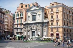 Piazza Trieste E Trento, street view, Naples Royalty Free Stock Photography