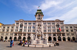 Piazza unità d'Italia, Trieste Royalty Free Stock Photos