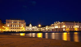 Piazza unità d'Italia,Trieste Royalty Free Stock Photos