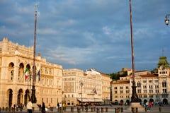 Piazza Unità d'Italia, Trieste Stock Image