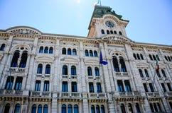 Piazza Unitàd Italia w Trieste Zdjęcie Stock