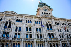 Piazza Unitàd Italie à Trieste Photo stock