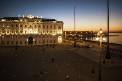 Piazza Unit� d'Italia Trieste. Italy at sunset Royalty Free Stock Photo