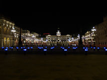 Piazza Unita dItalia. Piazza dellUnita dItalia, the largest european square in front of the sea during Christmas Royalty Free Stock Photography