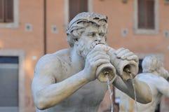 Piazza van het detailbeeldhouwwerk de Fontein van Navona Stock Afbeelding