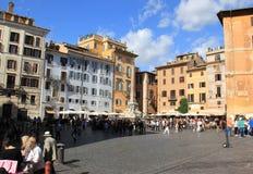 Piazza van het Pantheon Stock Foto's