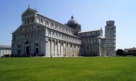 Piazza van Pisa dei Miracoli Stock Afbeeldingen