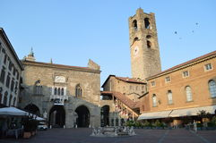 Piazza Vecchia Royalty Free Stock Photography