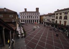 Piazza Vecchia Bergame, Lombardie, Italie images stock