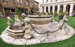 Piazza Vecchia, Bergamo Immagine Stock Libera da Diritti