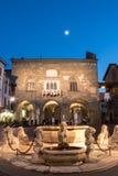 Piazza Vecchia, Bergamo, Italien Arkivbild