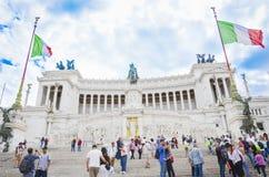 Piazza venecia, Rome, Italy royalty free stock image