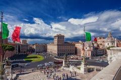 Piazza Venezia à Rome Photo stock