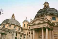 Piazza Venezia Churches, Rome Royalty Free Stock Photography
