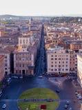 Piazza Venezia e via del Corso, Roma Fotografie Stock Libere da Diritti