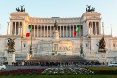 Piazza Venezia e Vittoriano Emanuele Monument Fotografie Stock Libere da Diritti