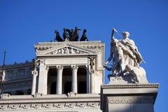 Piazza Venezia en Vittoriano in Rome. Royalty-vrije Stock Foto's