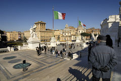 Piazza Venezia et Victorian, Rome, Italie Photo stock