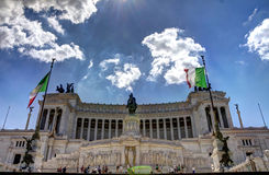 Piazza Venezia - Rome in HDR Stock Images
