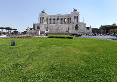 Piazza Venezia  is the most beautiful of Rome Squares Stock Photography