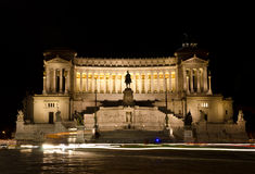 Piazza Venezia by night Stock Image